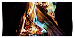 Campfire In July Beach Towel