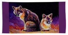Campfire Surveillance Team Beach Towel by Bob Coonts
