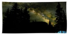Camping Under The Milky Way 2 Beach Towel