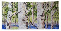 Canadian Autumn Birch Beach Towel
