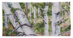 Canadian Birch Trees Beach Towel