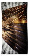 Beach Towel featuring the digital art Canadian Goose Wing  by Ayasha Loya