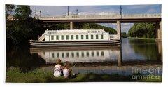 Canal Boat  Beach Sheet