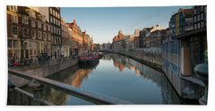 Canal From The Bridge Beach Towel