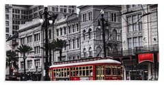 Canal Street Trolley Beach Towel