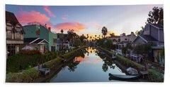 Canals Of Venice Beach Beach Towel