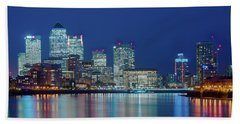 Beach Towel featuring the photograph Canary Wharf by Stewart Marsden