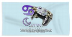 Cancer Sun Sign Beach Towel