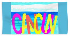 Cancun Poster T-shirt Beach Sheet