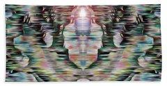 Beach Towel featuring the digital art Alignment by Mark Greenberg