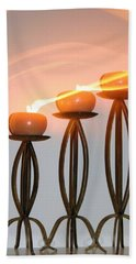 Candles In The Wind Beach Towel