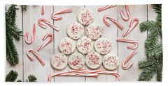 Beach Towel featuring the photograph Candy Cane Lane by Kim Hojnacki