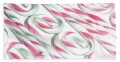 Candy Cane Swirls Beach Sheet