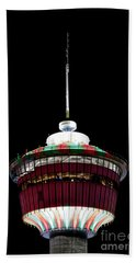 Beach Towel featuring the photograph Candy Cane Tower by Brad Allen Fine Art
