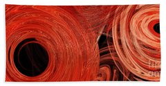 Candy Chaos 1 Abstract Beach Towel