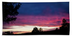 Beach Towel featuring the photograph Candy-coated Clouds by Jason Coward