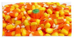 Candy Corn Beach Towel