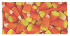 Candy Corn Square- By Linda Woods Beach Towel
