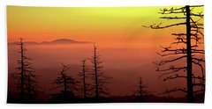 Beach Towel featuring the photograph Candy Corn Sunrise by Douglas Stucky