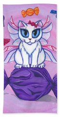 Candy Fairy Cat, Hard Candy Beach Towel