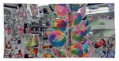 Candy Store Beach Towel by Kathie Chicoine