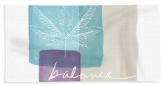 Cannabis Leaf Watercolor 3- Art By Linda Woods Beach Towel