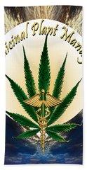 Cannabis Medicinal Plant Beach Sheet