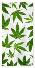 Cannabis Beach Sheet by Tim Gainey