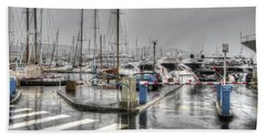 Cannes Street Rain Beach Towel