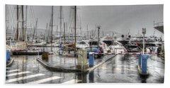Cannes Street Rain Beach Sheet