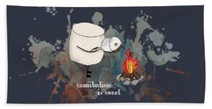 Cannibalism Is Sweet Illustrated Beach Towel by Heather Applegate