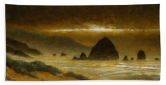 Cannon Beach Evening Beach Towel