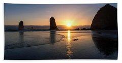 Cannon Beach Sunset Beach Towel