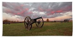 Cannons At Sunrise Beach Towel