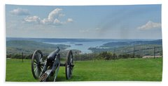 Cannons Ready Beach Towel by Julie Grace