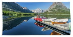 Canoe Reflections Beach Towel