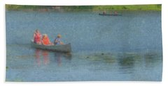 Canoes On Shovelshop Pond Beach Towel
