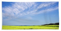 Canola Blue Beach Towel by Keith Armstrong