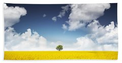 Canola Field Beach Towel