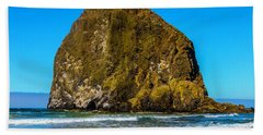 Canon Beach Hay Stack Rock Beach Towel