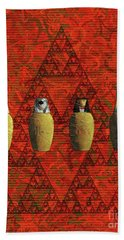 Canopic Jars, Ancient Egypt Beach Towel