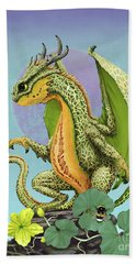 Beach Towel featuring the digital art Cantaloupe Dragon by Stanley Morrison
