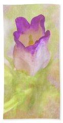Canterbury Bell Flower Painted Beach Towel