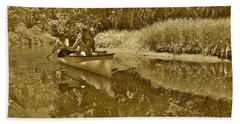 Canton Canoe Trip 2016 36 Beach Towel by George Ramos