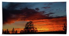 Beach Towel featuring the photograph Canvas For A Setting Sun by Jason Coward