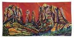 Canyon Beach Towel by Erika Pochybova