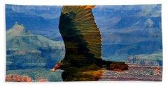 Canyon Flight Beach Towel