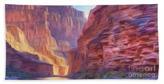 Canyon Light Beach Towel by Walter Colvin