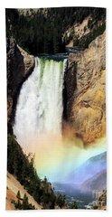 Canyon Lower Falls Rainbow Beach Towel