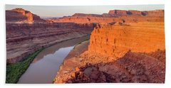 Canyon Of Colorado River - Sunrise Aerial View Beach Towel